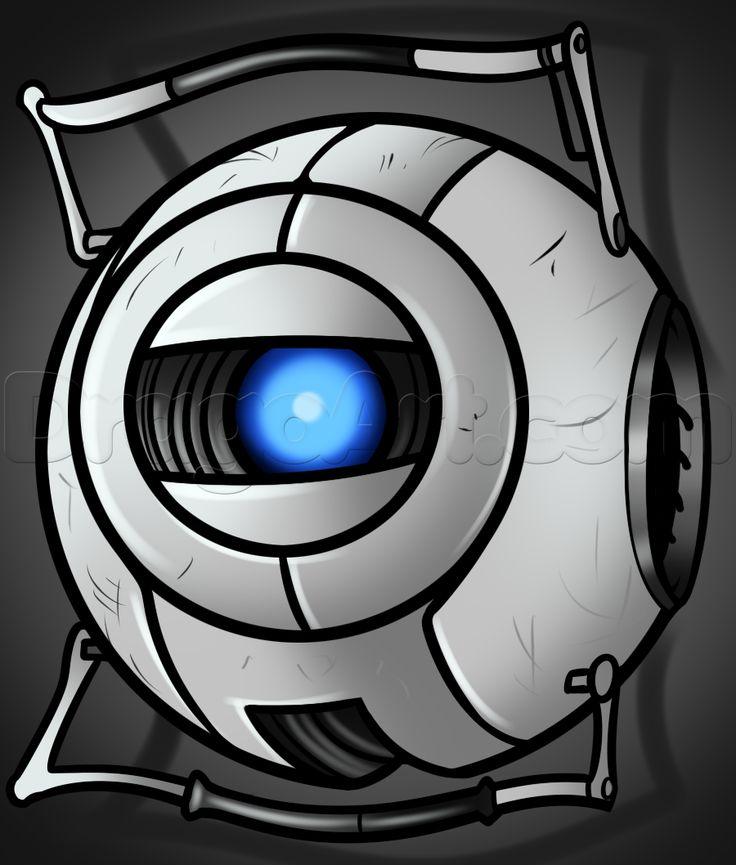 how to draw wheatley from portal 2