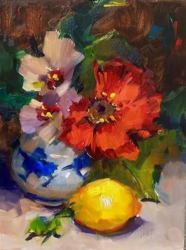 "Daily Paintworks - ""Sweet Little Still Life"" - Original Fine Art for Sale - © Laurie Johnson Lepkowska"