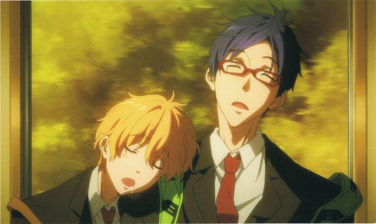 Nagisa and Rei - sleep ^^