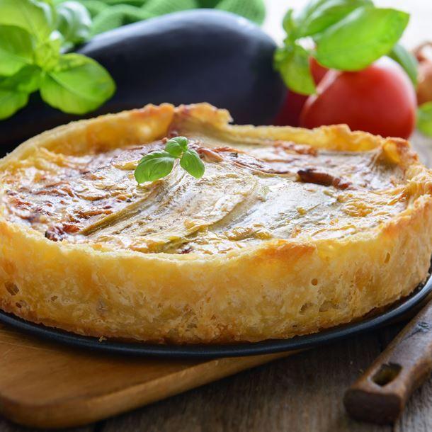 Tarte aux aubergines et fromage