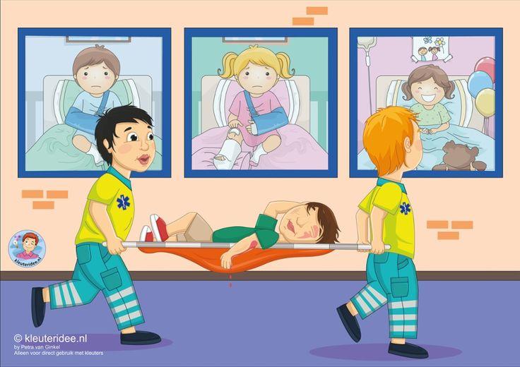 TOUCH this image: Interactieve praatplaat, thema ziekenhuis, kleuteridee.nl by juf Petra