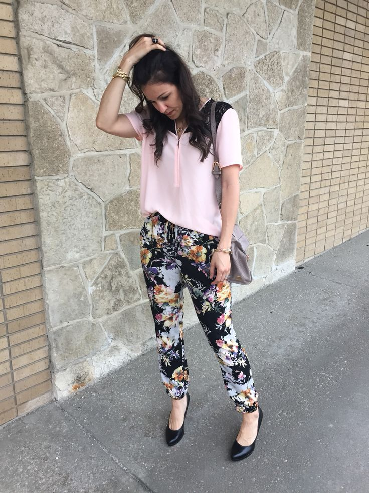 Floral Joggers | How To Style Floral Pants | How To Style Jogger Pants | Jogger Outfit Ideas ...