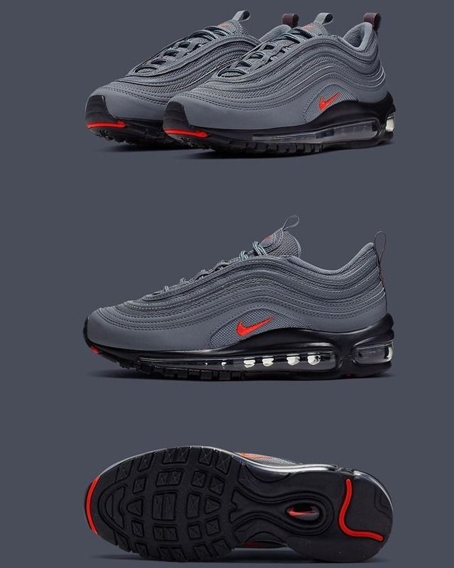 Nike Air Max 97 GS Grey/Black | Zapatillas outlet de nike ...