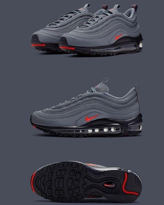 Nike Air Max 97 Gs Grey Black En 2020 Course A Pied Nike Nike Air Max 97 Nike