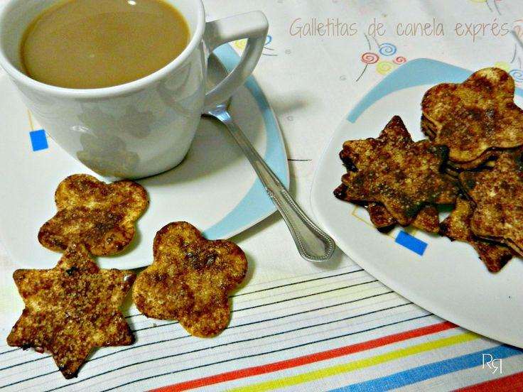 Galletitas de canela exprés -con tortillas de trigo-