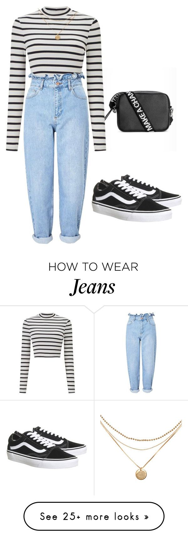 """""""These jeans are amazing!!!"""" by alexxandrajade on Polyvore featuring Miss Selfridge and Vans"""