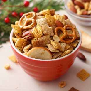 Original Chex™ Mix has been a party favorite for over 50 years. This savory snack mix is one of our most loved homemade recipes perfect for any party.