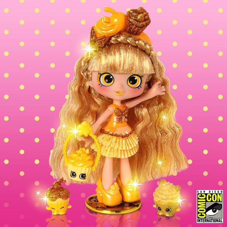 Open your wallets parents because Shopkins has just announced they will be releasing an exclusive Shoppie doll!  There will only be 2,000 units of the new Jessicake Limited Edition Golden Cupcake, the most rare doll to join the popular Shoppies line, to be sold exclusively at Comic-Con from July 20-24, 2016.