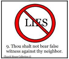 Image result for 10 commandments lie
