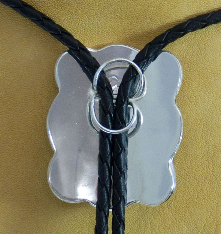 Making Bolo Ties   Western Bolo Tie Silver with Gold Trim Horse Shoe