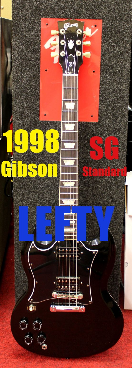 1998 gibson usa sg standard left handed electric guitar for sale in watertown ny guitars. Black Bedroom Furniture Sets. Home Design Ideas