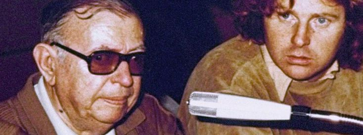 Jean-Paul Sartre after his visit with Andreas Baader in 1974: The appearance was heavily criticized.