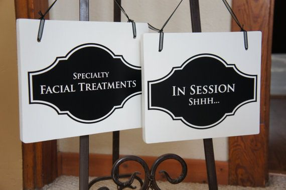 Salon Sign for business In Session Shhh / Facial by Frameyourstory, 29.99