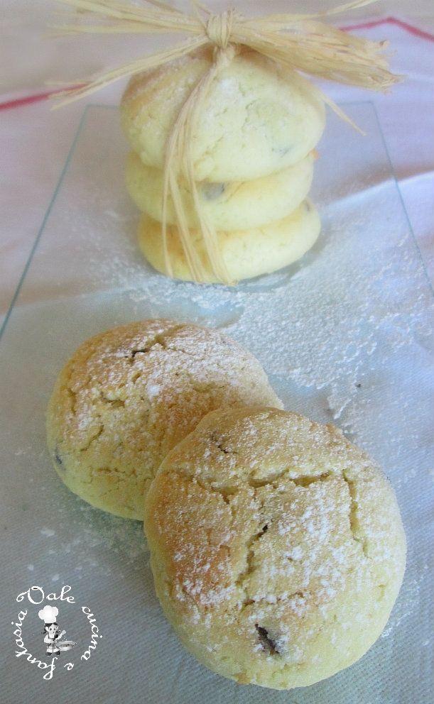 Biscottini morbidi con panna e cioccolato,ricetta