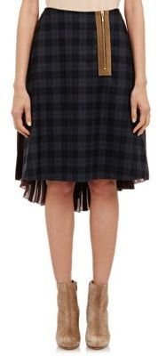 Kolor Plaid-Front Skirt