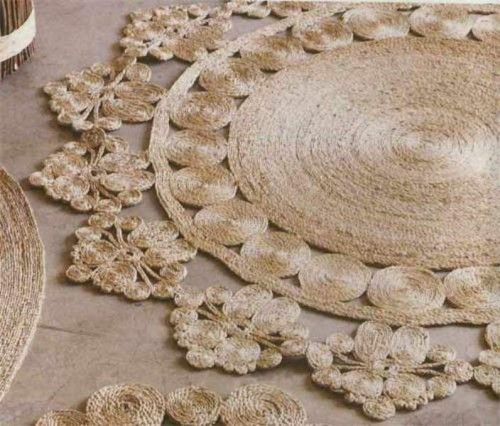 DIY Rustic Rug Of Jute Or Sisal Rope | Shelterness