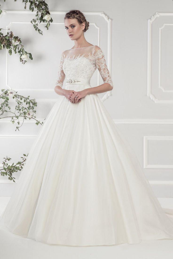 11424 Ellis Bridals Long Sleeve Wedding Dress