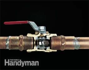 Plumbing Valve Basics | The Family Handyman