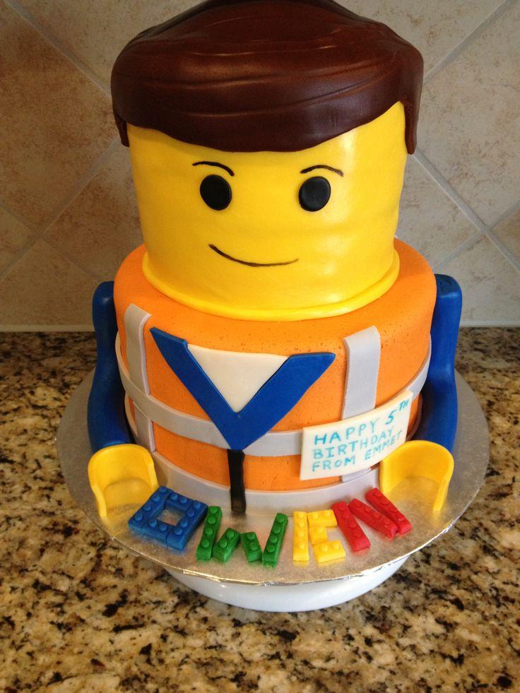 Emmet lego cake birthday ideas pinterest cakes lego