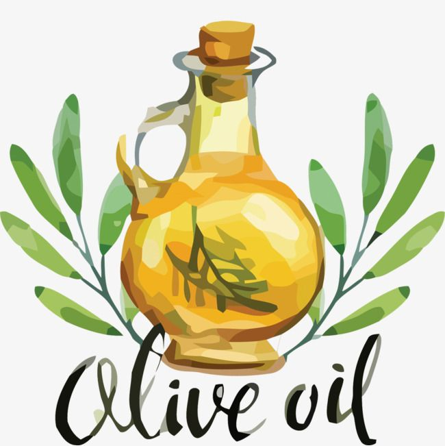 Vector Creative Hand Painted Bottle Of Olive Oil Painted Bottle Hand Painted Bottles Leaf Illustration