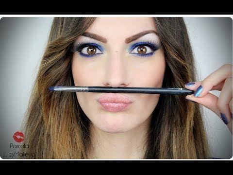 Tutorial Trucco occhi marroni - Electric Blue
