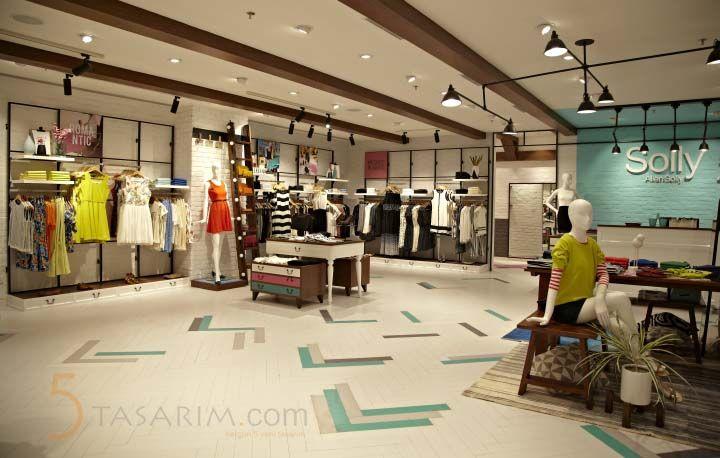 bayan giyim mağaza tasarımları
