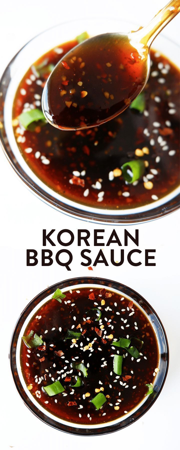 This Korean Barbecue Sauce recipe is so simple to throw together. I love the toasted sesame oil, Sambal Oelek, and brown sugar. It's sweet, spicy, and salty. This Korean BBQ Sauce is delicious on grilled chicken, BBQ steak, and makes a yummy vegetarian st