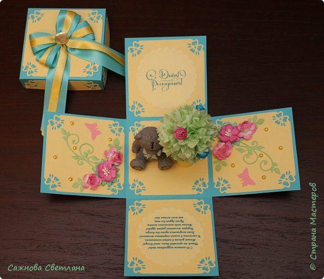 Скрапбукинг Упаковка День рождения Аппликация Бумагопластика Бумажные тортики приглашения и magic box на день рождения девочки Бумага фото 9