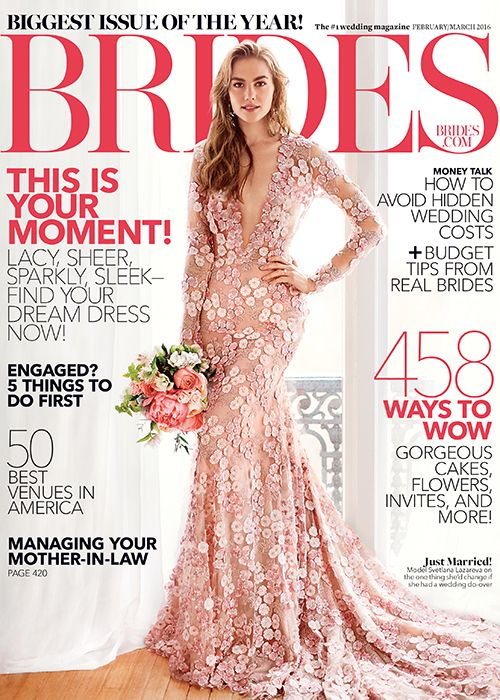 Brides: Brides Magazine Cover: First Look at the February/March 2016 Issue