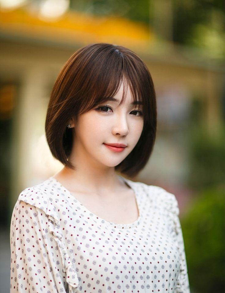 The 25+ best Korean hairstyle medium bangs ideas on Pinterest | Asian hair fringe, Korean hair ...