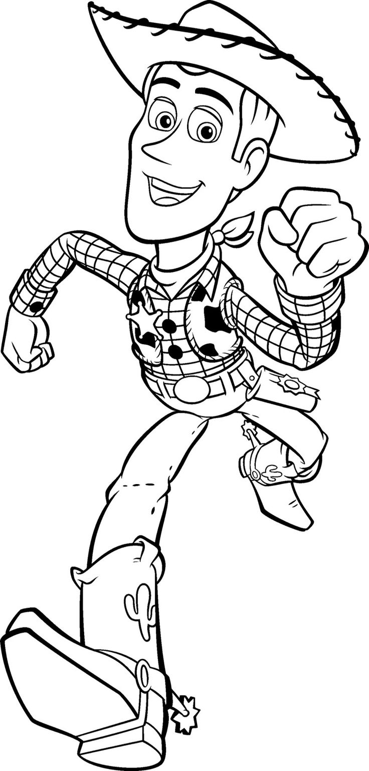 toy story woddy is running to save buzz in toy story coloring page - Buzz Lightyear Face Coloring Pages