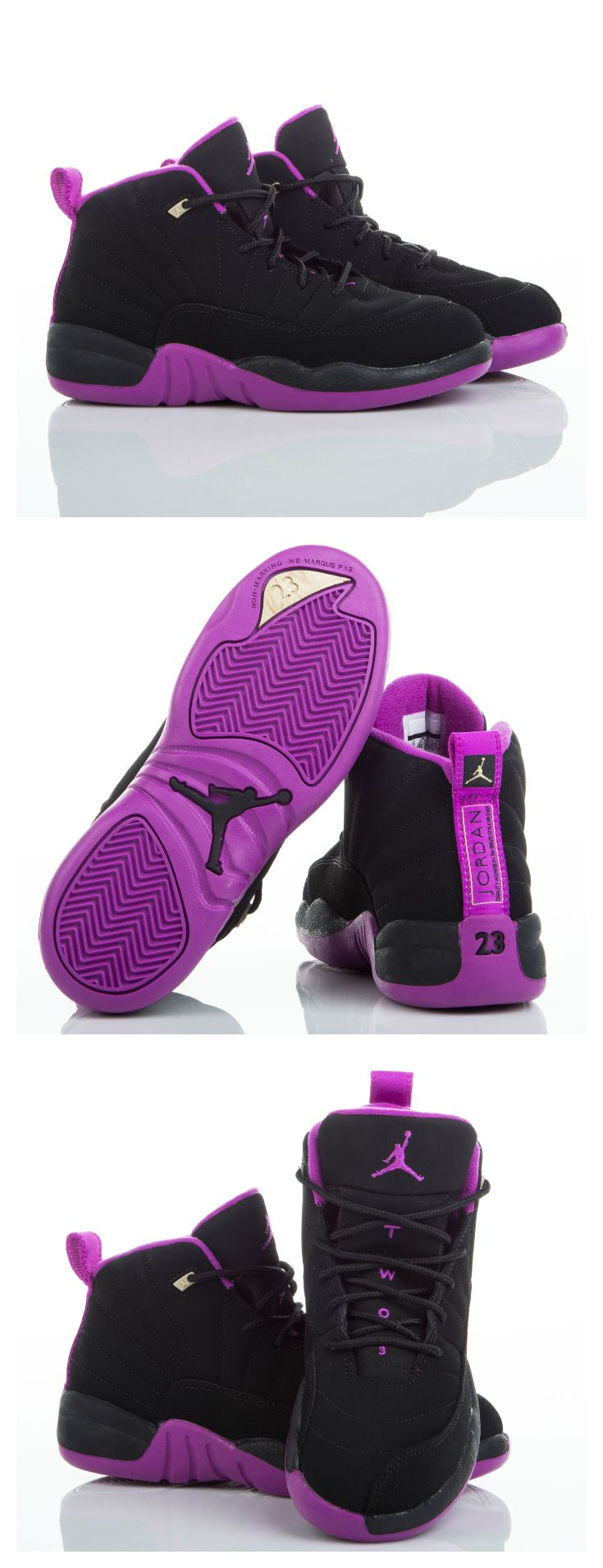 My favorite color Purple Offset the summer heat with the cool Jordan Retro  available in girls' sizes.
