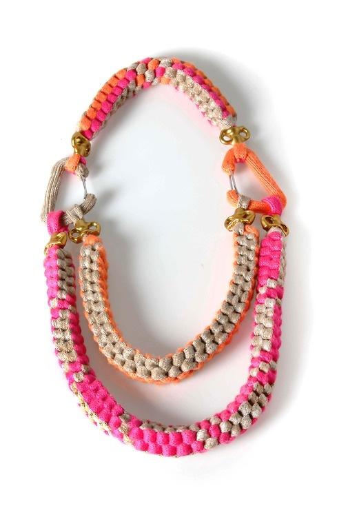 Fern Elizabeth: Para Juntar, Accessories Addiction, Elizabeth Jelleyman, Ferns Elizabeth, Posts, Collars, Fabrics Jewelry, Diy, Knot
