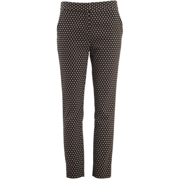 Diane Von Furstenberg Trousers (1,615 CNY) ❤ liked on Polyvore featuring pants, capris, black, black cropped trousers, black trousers, diane von furstenberg, cropped capri pants and cropped trousers