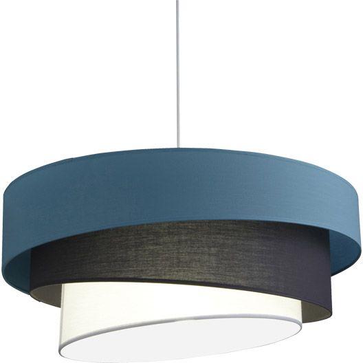 Suspension Ionos INSPIRE, bleu baltique n°3, 60 watts, diam. 58 cm