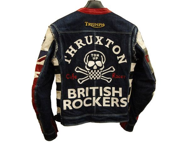 Cafe racer motorcycle jacket TRIUMPH от FURIAcustom на Etsy