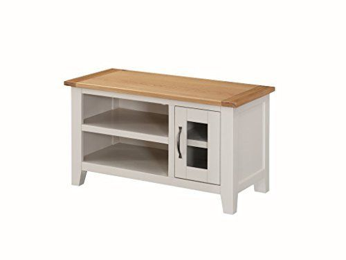 Edmonton Painted Oak Small TV Unit With 1 Door   Small Oak Plasma TV Cabinet    Part 95