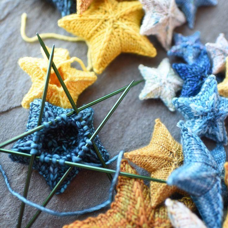tricot ☆ knit stars laine wool étoiles confection diy