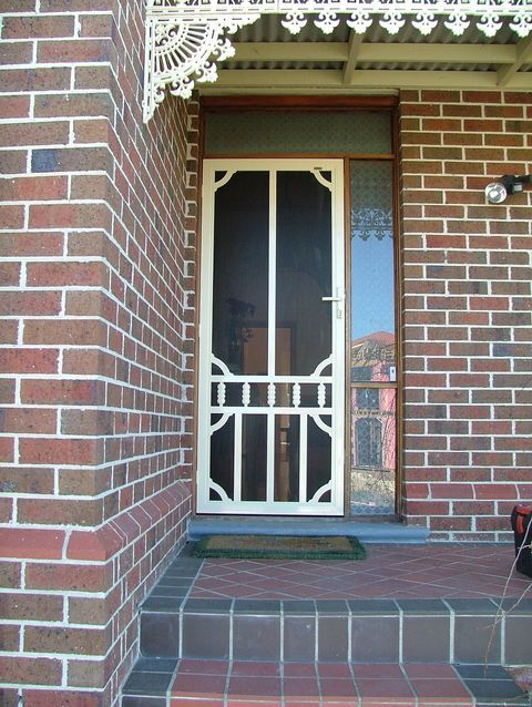 Security screen doors colonial style security screen for Security doors for french doors