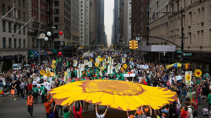 The People's Climate March in Manhattan was a spectacle even for a city known for doing things big, and it was joined, in solidarity, by demonstrations on Sunday across the globe, from Paris to Papua New Guinea.