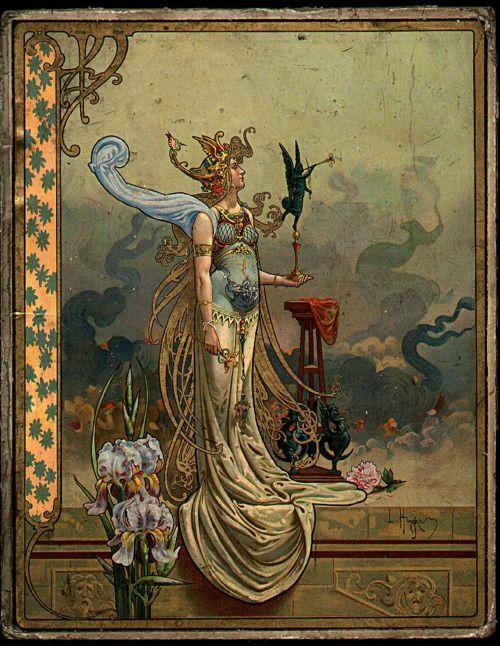 Unattributed Art Nouveau image of Pallas Athena.: