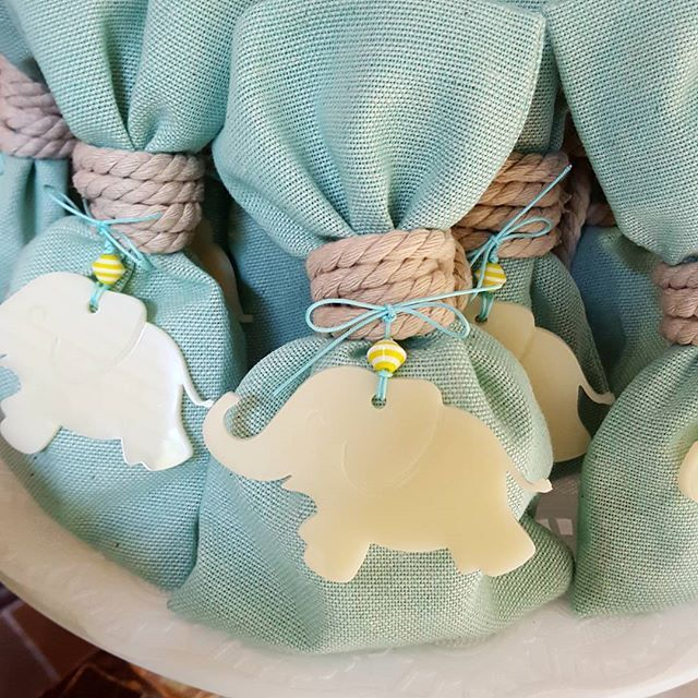 #minidreamers #baptism_favors #elephant_theme #love_elephants #aqua_colour #greek_baptism #christening #handmade #MiniDreamers #baby #plexiglass
