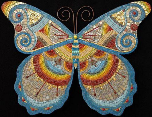 mosaic art pics | Awesome Butterfly Mosaic Art