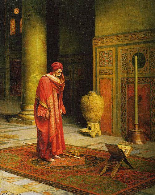 Ludwig Deutsch (1855 - 1935) - At Prayer