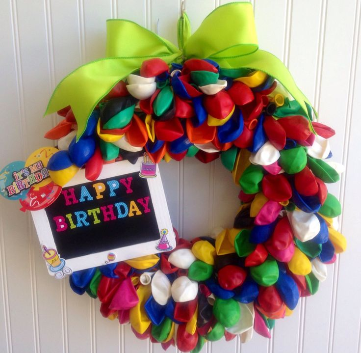 A personal favorite from my Etsy shop https://www.etsy.com/listing/399476895/balloon-wreath-birthday-wreathparty