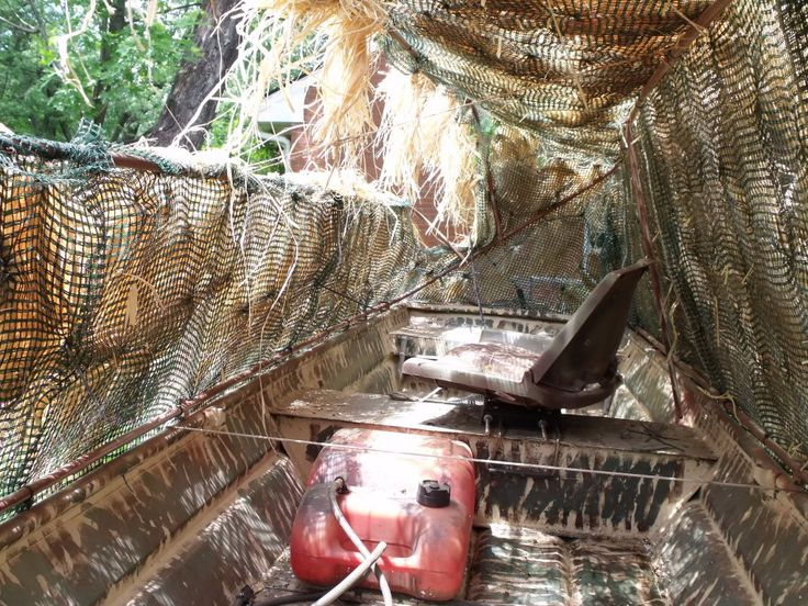 How to make a duck blind for your boat 101