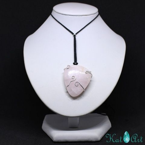 Roze quarz and steling silver