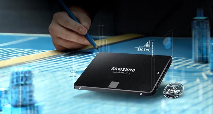 The world's first 3D Vertical NAND (V-NAND) SSD- your Samsung SSD 850 EVO