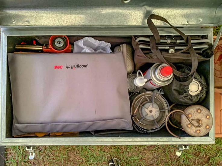 格安でおしゃれキャンパーの仲間入り ブリキトランクを収納ボックスに選んだ理由 収納ボックス 収納 キャンプ道具 収納