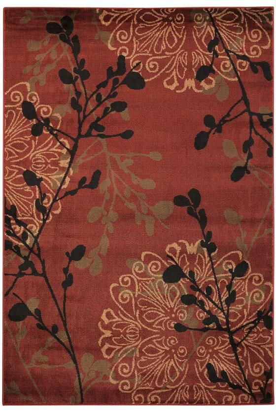 The Dled Area Rug Shows Sophisticated Colours Like Deep Asian Red Black Green Tan